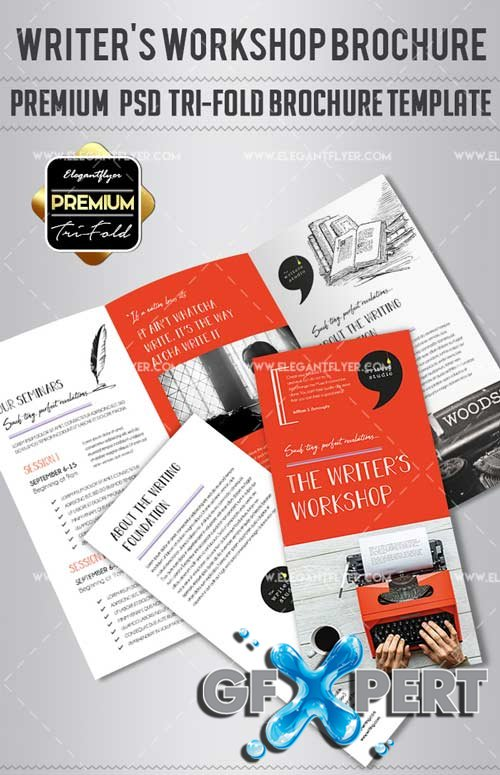 Free WriterS Workshop V  Premium TriFold Psd Brochure