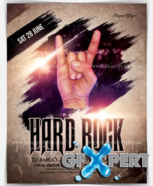Hard Rock V4 2018 Flyer PSD Template