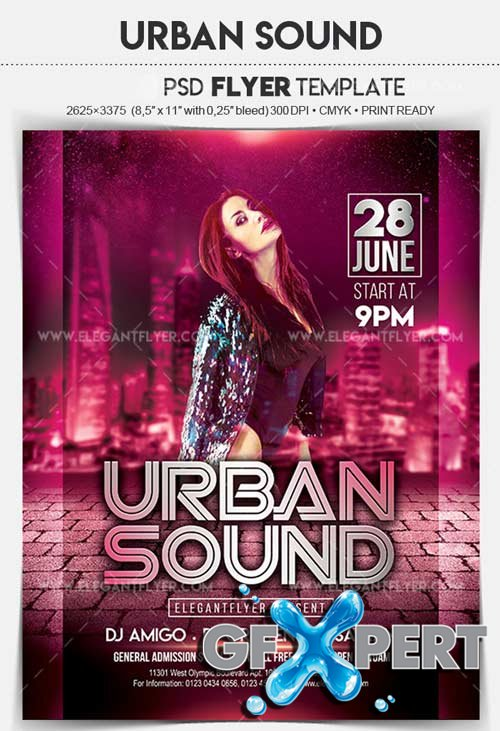 Urban Sound V9 2018 Flyer PSD Template