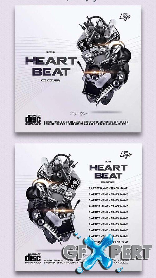 Heartbeat V1 2018 CD Cover in PSD