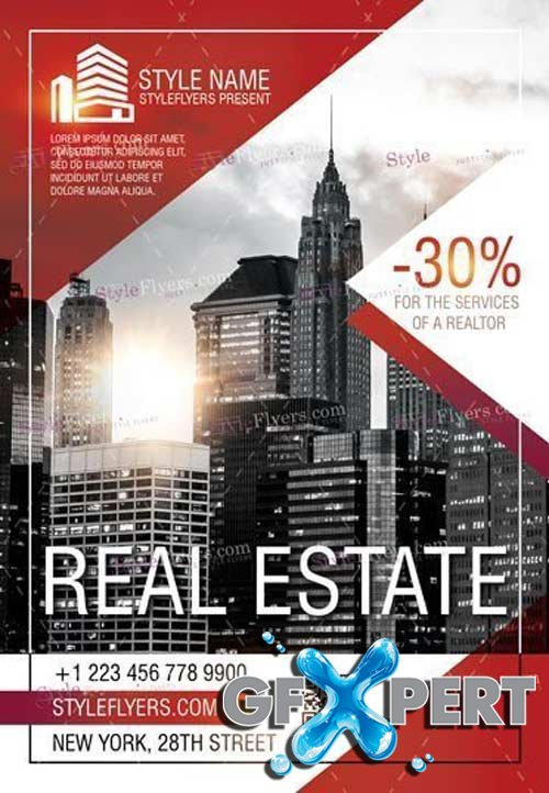 Real Estate V11 2018 PSD Flyer Template