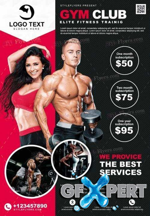 GYM V14 2018 PSD Flyer Template
