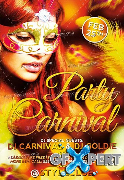Carnival Party V9 2018 PSD Flyer Template