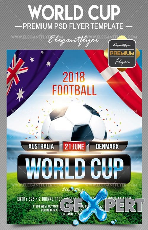 World Cup V5 2018 Flyer PSD Template
