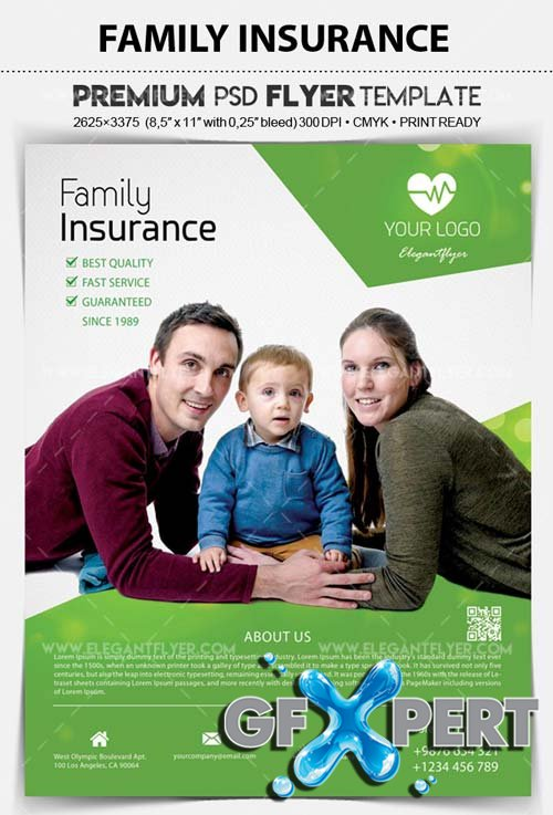 Family Insurance V1 2018 PSD Template