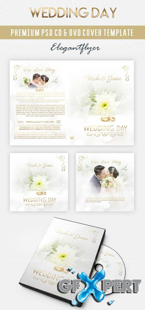 Wedding V2 2018 CD & DVD Cover Template