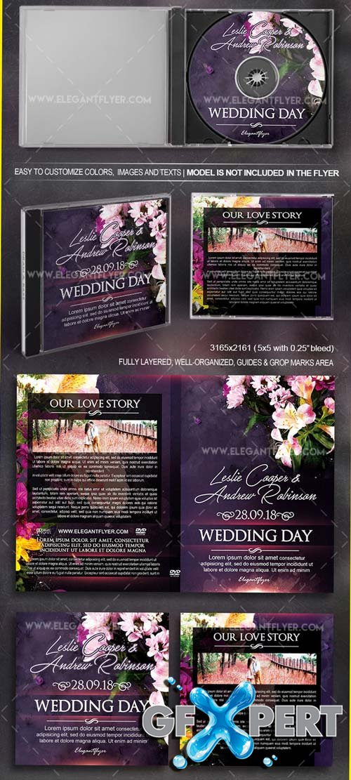 Wedding V1 2018 CD & DVD Cover Template