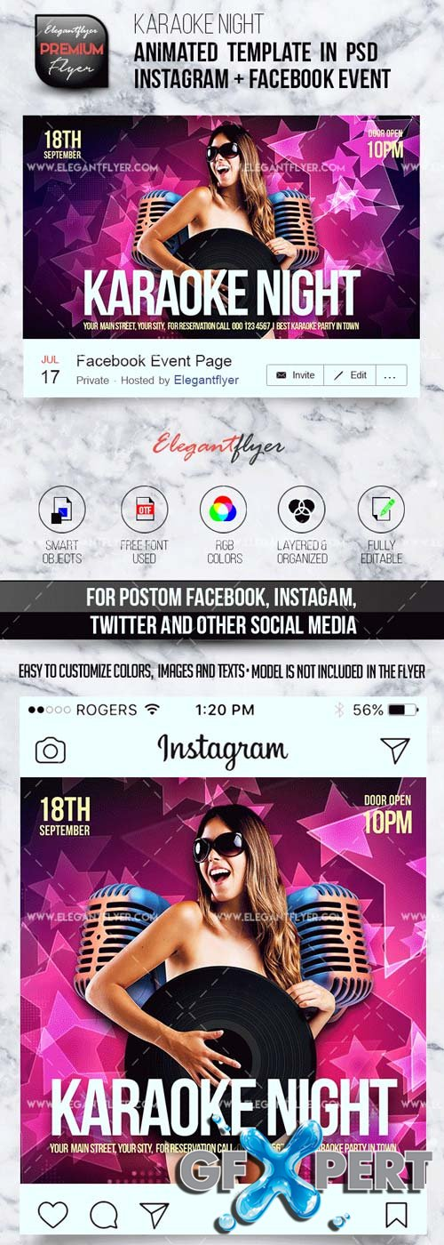 Animated Instagram V9 2018 Template