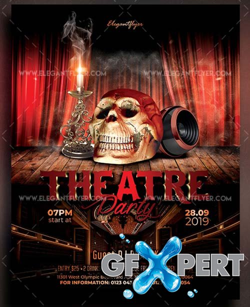 Theatre Party V1 2018 Flyer PSD Template