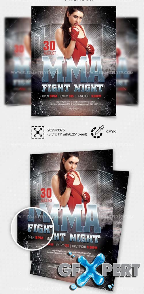Fight Night V9 2018 Flyer PSD Template
