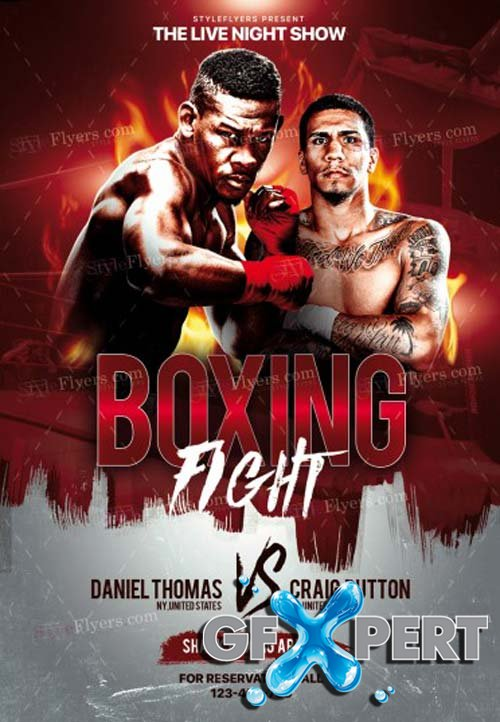 Boxing V17 2018 PSD Flyer Template