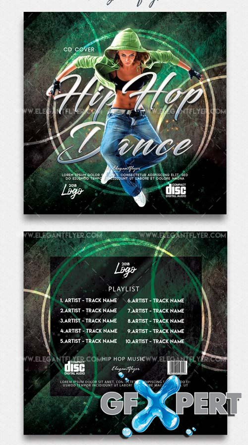 Hip Hop Dance V9 2018 Premium CD Cover Template in PSD