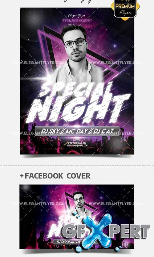 Special Club Night V17 2018 Flyer Template in PSD