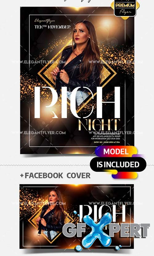 Rich Club Night Party V1 2018 Flyer PSD Template