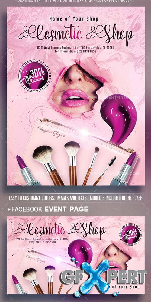 Cosmetic Shop V10 2018 Flyer PSD Template