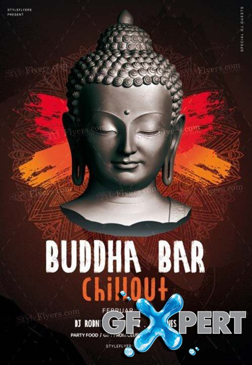Buddha Bar Chillout V1 2018 PSD Flyer Template