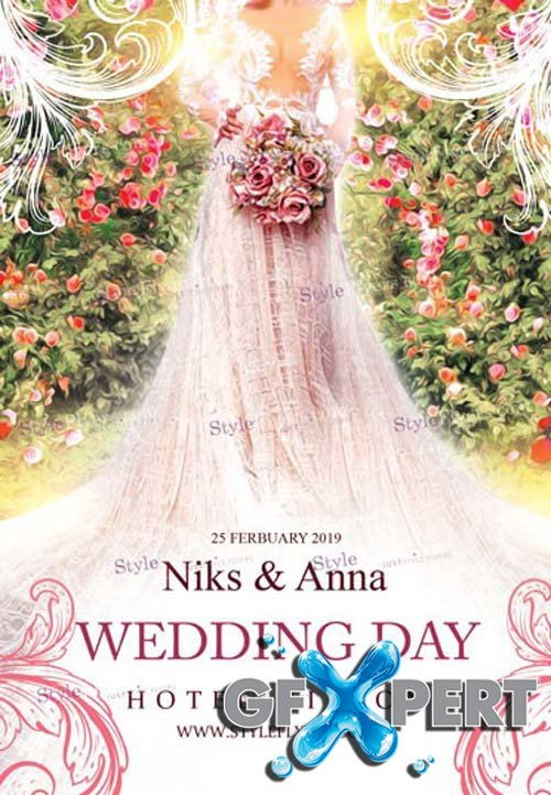 Wedding Day V1 2019 PSD Flyer Template