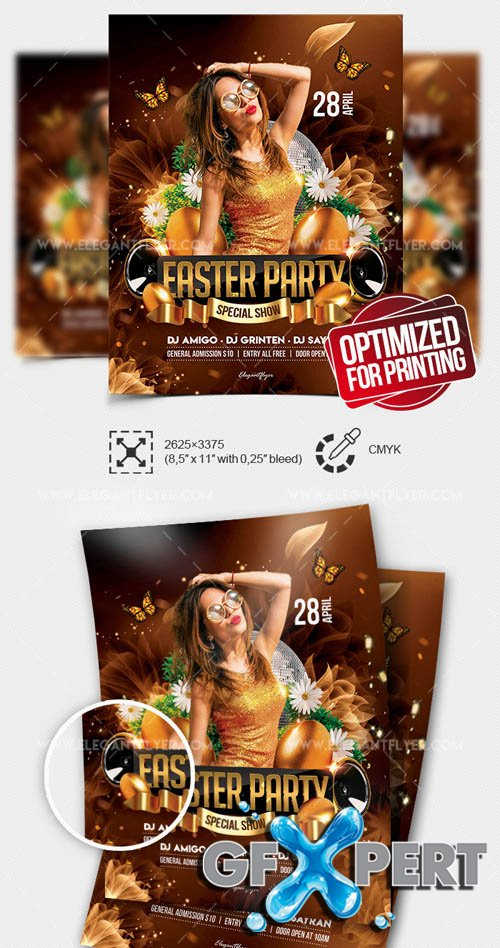 Easter Party Flyer V4 2019 Flyer PSD Template