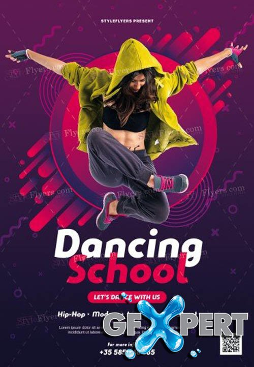 Dancing School V5 2019 PSD Flyer Template