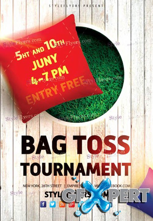 Bag Toss Tournament V1 2019 PSD Flyer Template