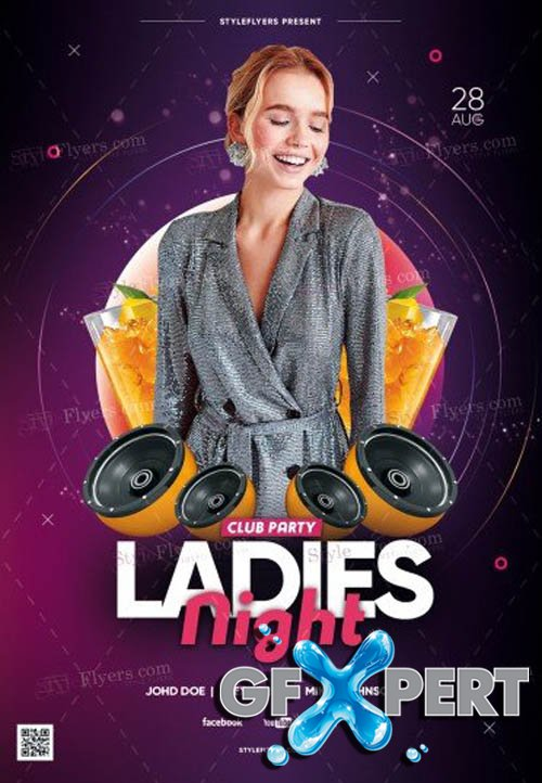 Ladies Night Club Party V18_07 2019 PSD Flyer Template