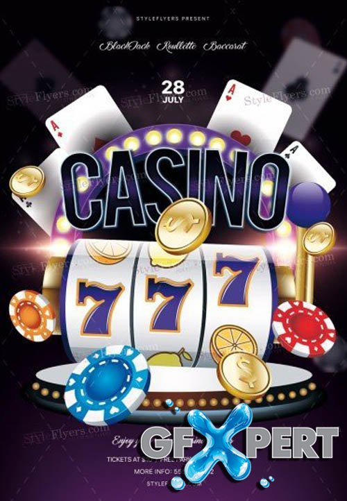Casino V0108 2019 PSD Flyer Template