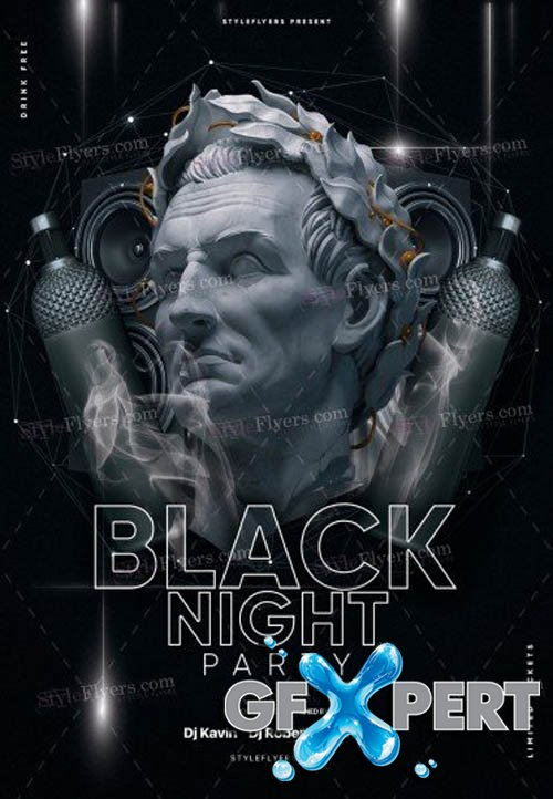 Black Night Party V1208 2019 PSD Flyer Template