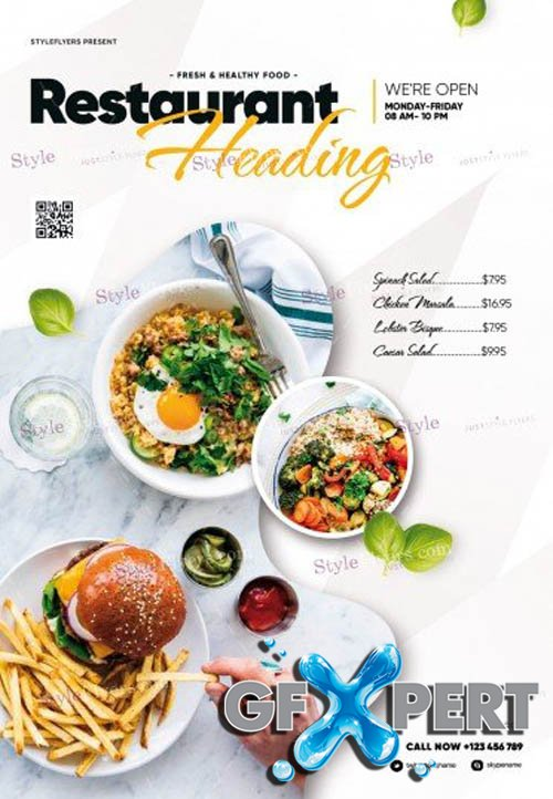 Restaurant V2309 2019 PSD Flyer Template