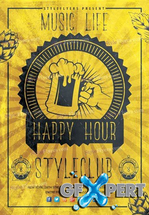 Happy Hour V2309 2019 PSD Flyer Template
