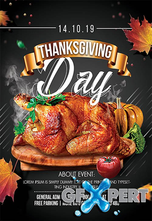 Thanksgiving Day V2809 2019 Premium PSD Flyer Template