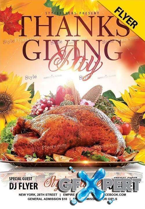 Thanksgiving Day V0911 2019 PSD Flyer Template