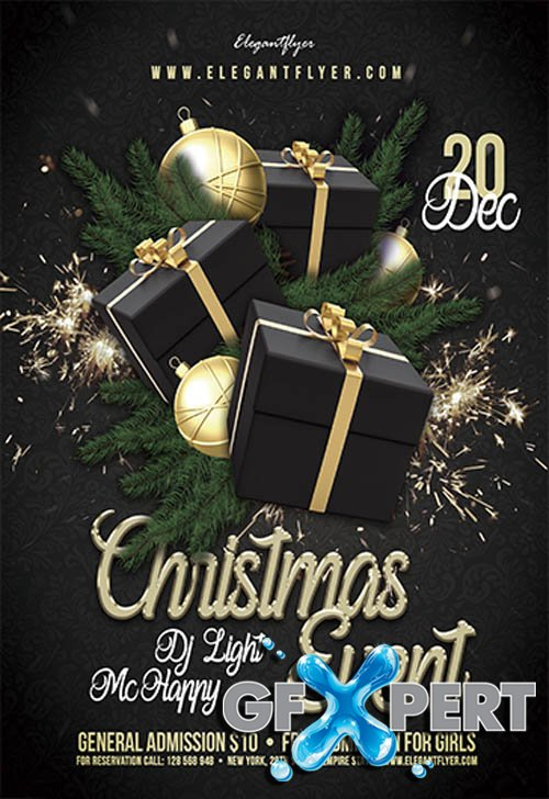 Christmas Event V2611 2019 Premium PSD Flyer Template
