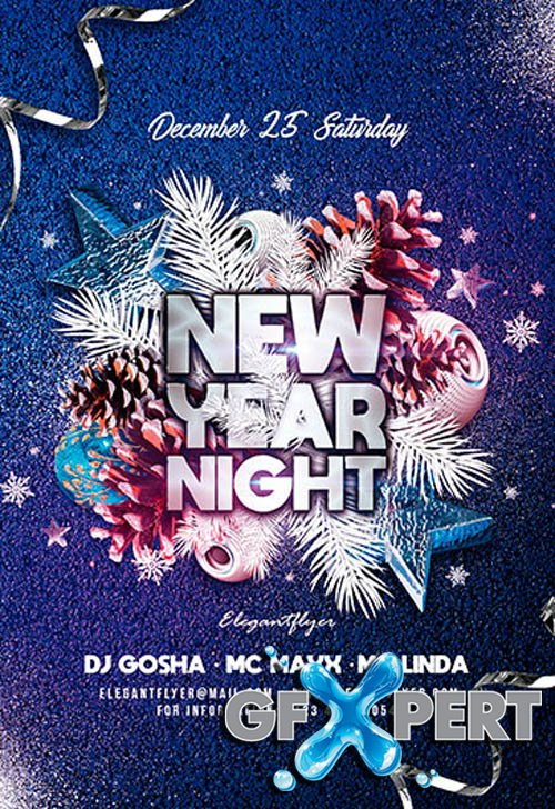 New Year Night V2611 2019 Premium PSD Flyer Template