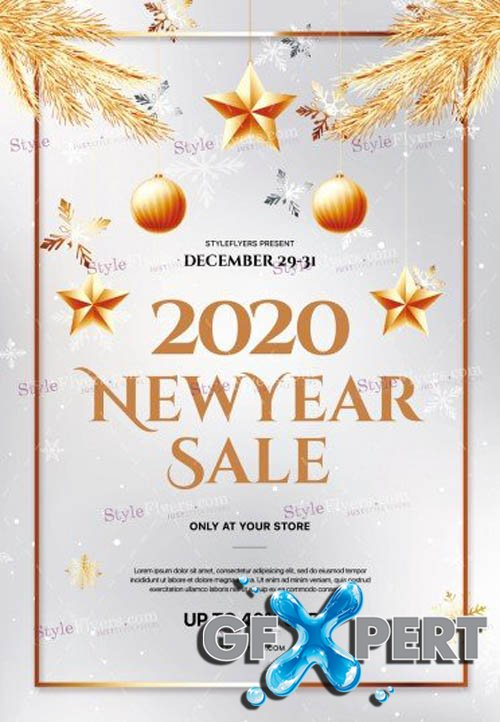 2020 New Year Sale V2811 2019 PSD Flyer Template
