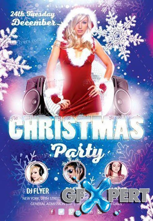 Christmas Party V3011 2019 PSD Flyer Template