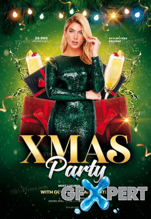 Xmas Party V0112 2019 PSD Flyer Template