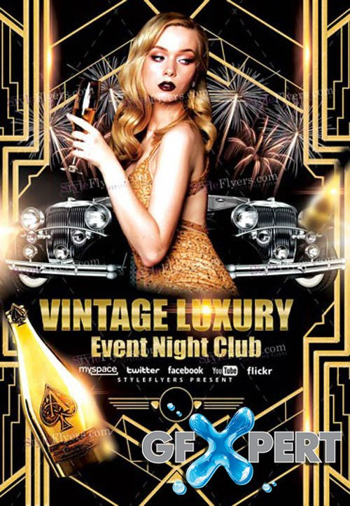 Vintage Luxury Event V1502 2020 Night Club Flyer