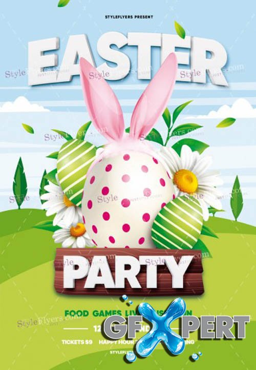 Easter Party V1203 2020 PSD Flyer