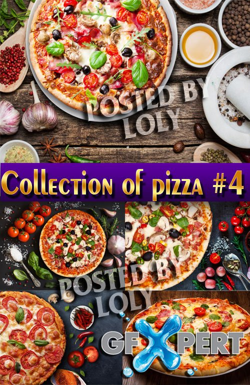 Collection of pizza #4 - Stock Photo