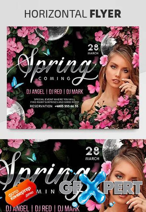 Spring Coming V2003 2020 Premium PSD Flyer Template