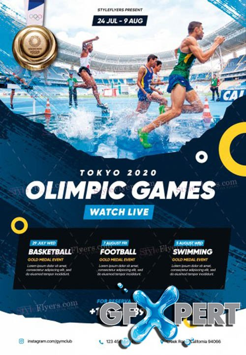 Olympic Games V3103 2020 PSD Flyer Template