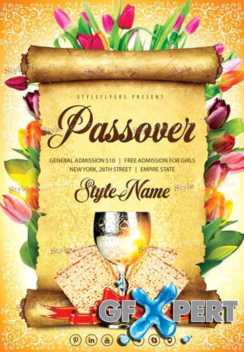 Passover V3103 2020 PSD Flyer Template