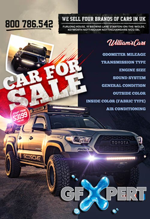 Car For Sale V0404 2020 Premium PSD Flyer Template