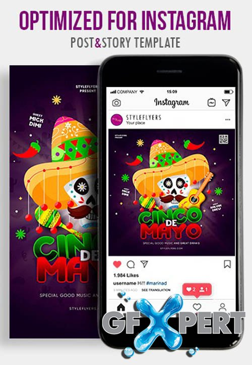 Cinco De Mayo V1604 2020 PSD Instagram Post and Story Template