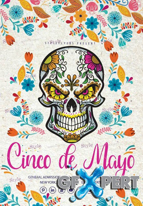 Cinco de Mayo V1504 2020 PSD Flyer Template