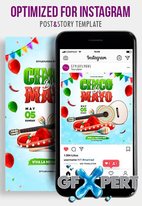 Cinco De Mayo V1404 2020 PSD Instagram Post and Story Template