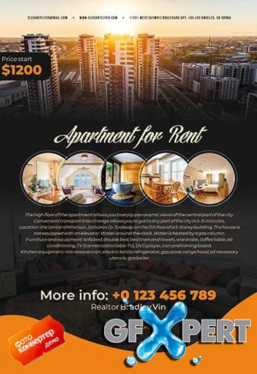 Apartment For Rent V1604 2020 Premium PSD Flyer Template