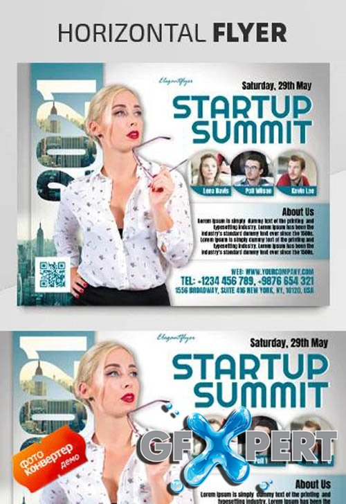 Startup Summit V1604 2020 Premium PSD Flyer Template
