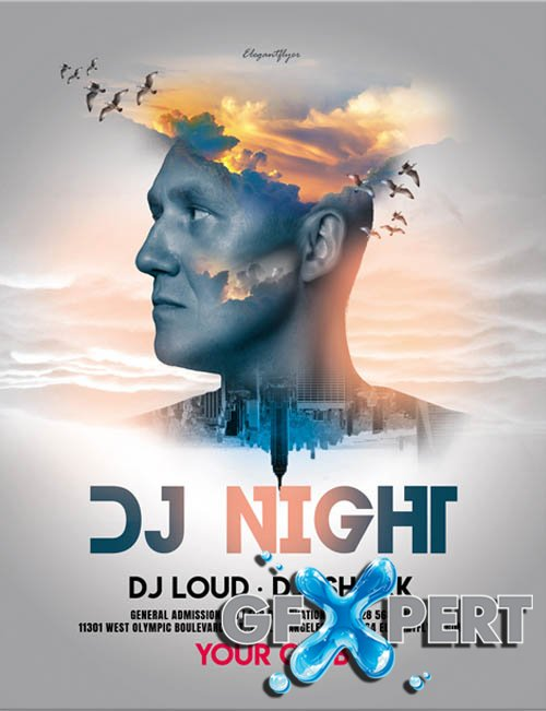 DJ Night V2604 2020 Flyer PSD Template