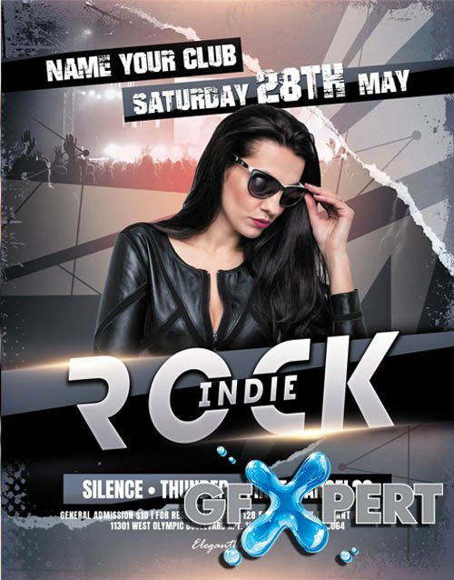 Indie Rock V2604 2020 PSD Flyer Template